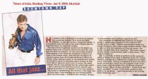 IGOR Article At Bombay Times Jan 9 2004 Mumbai India Pg 6