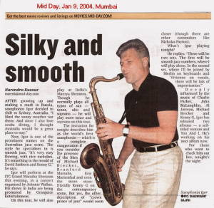 IGOR Article At Mid Day  Jan 9 Mumbai India Pg 3